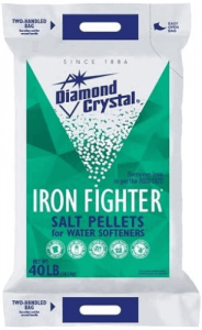 best salt for water softener Diamond Crystal Iron Fighter Pellets Bag