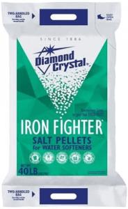 best salt for water softener Diamond Crystal Iron Fighter Pellets Bag