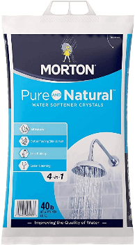 best salt for water softener Morton U26624S Pure AND Natural Water Softening Crystals