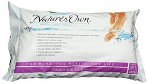 best salt for water softener Nature's Own Water Softener Potassium Solution
