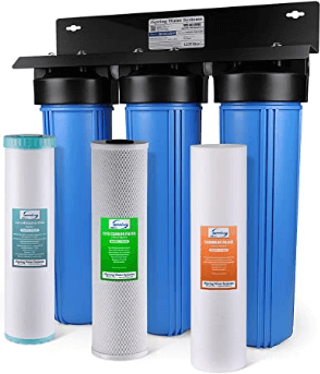 best water softeners to remove iron -Spring WGB32BM 3-Stage Whole House Water Filtration System