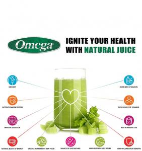 Omega fruit and vegetable juicers