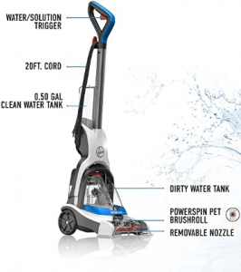 Hoover FH50700 Compact Carpet Cleaner Machine